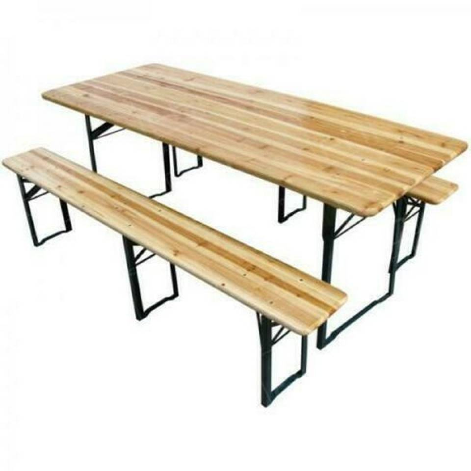 Outdoor Folding Bench and Table Set